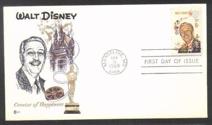 1355 Walt Disney Cover Craft First Day Cover D1