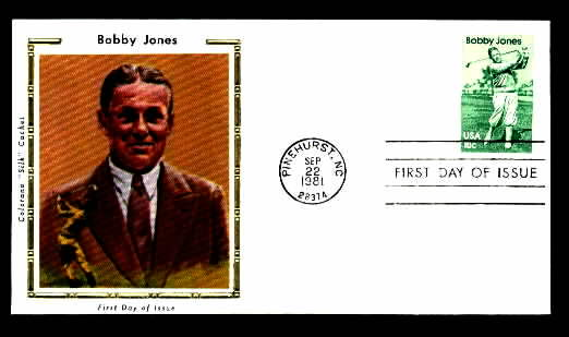 BOBBY JONES 1981 Golf Silk Cachet First Day Cover G36