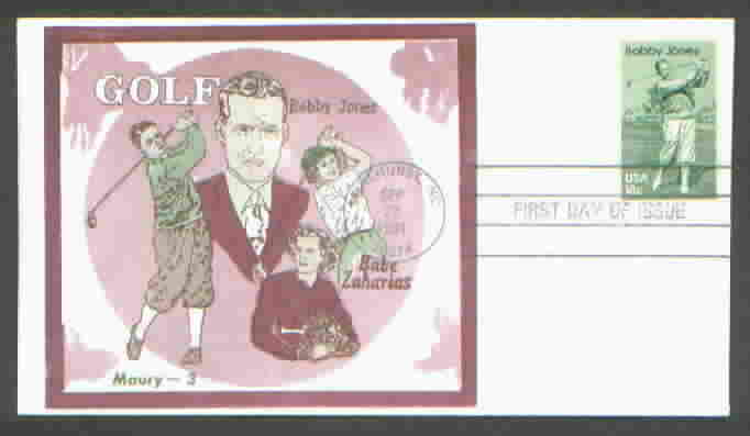 Bobby Jones 1933 First Day Cover G13a