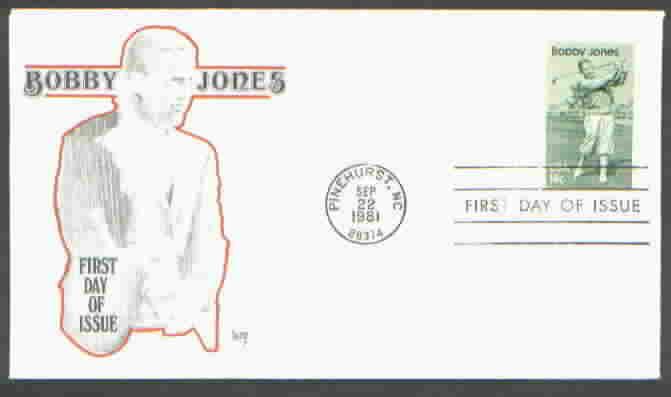 Bobby Jones 1933 MARG Cachet G15a